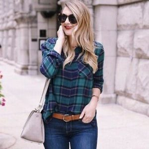 BP Nordstrom Green Flannel Plaid Shirt